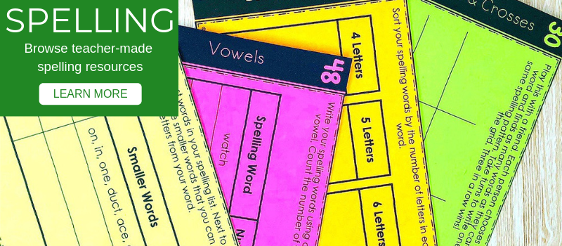 Classroom Spelling Resources