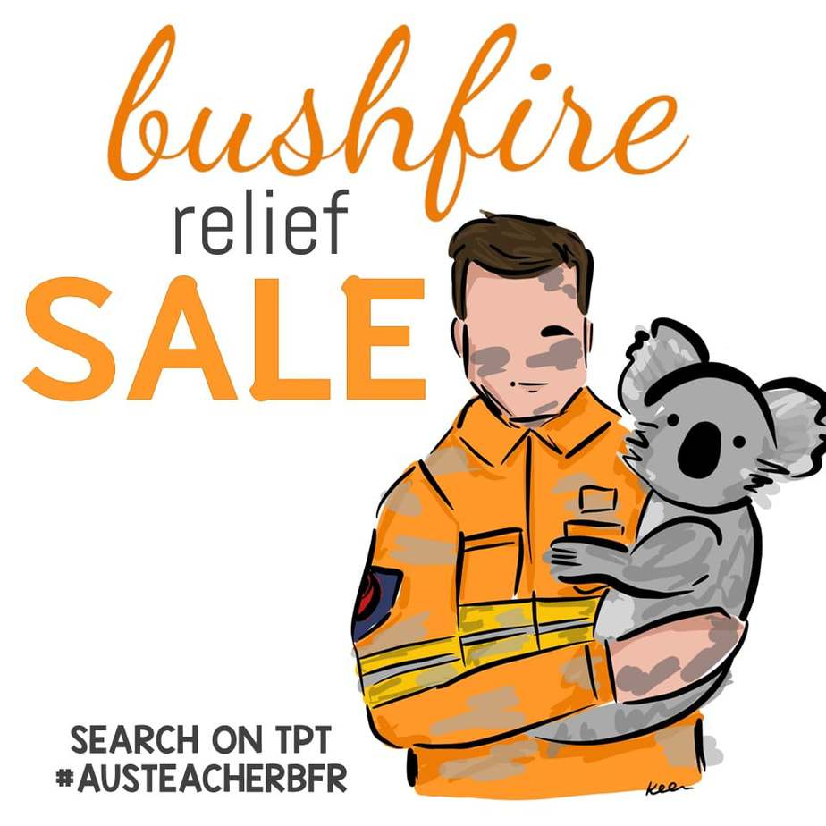 Bushfire relief fundraiser, image shows Aussie firefighter holding a koala