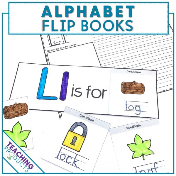 Alphabet flip books for letter recognition