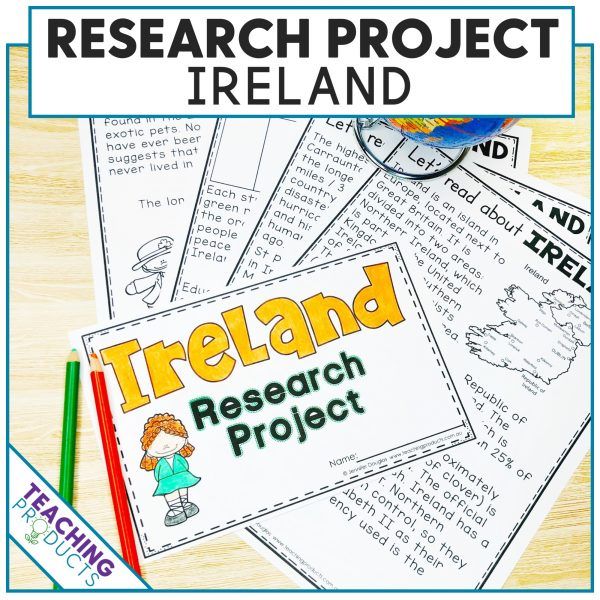 Social studies country research project Ireland