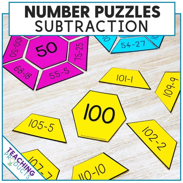 Subtraction puzzles within 100