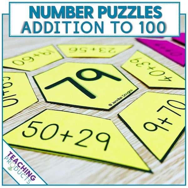 Number puzzles addition to 100