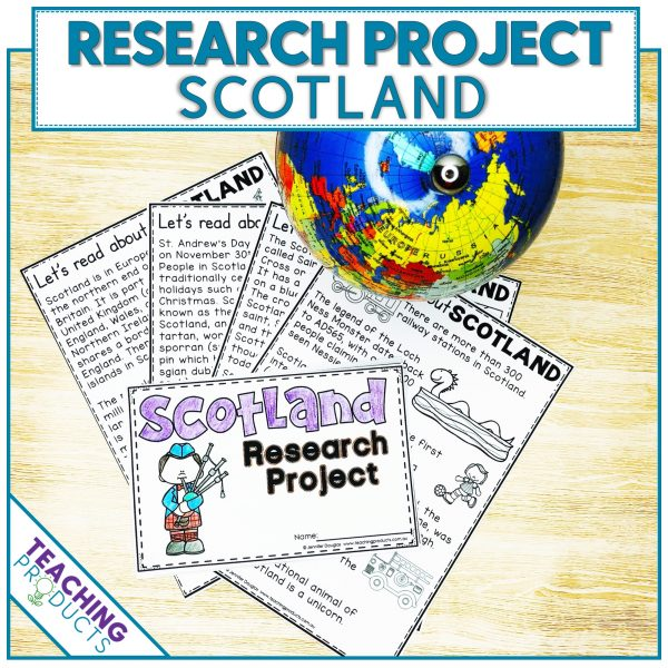 Social studies country research project Scotland