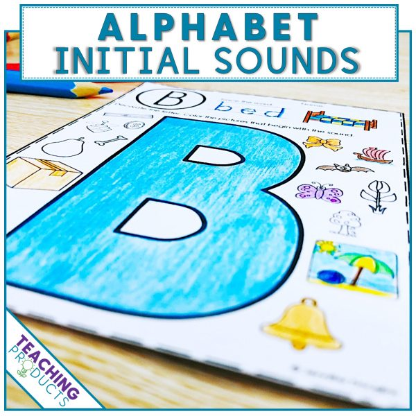 Initial sounds printable worksheet for letter recognition