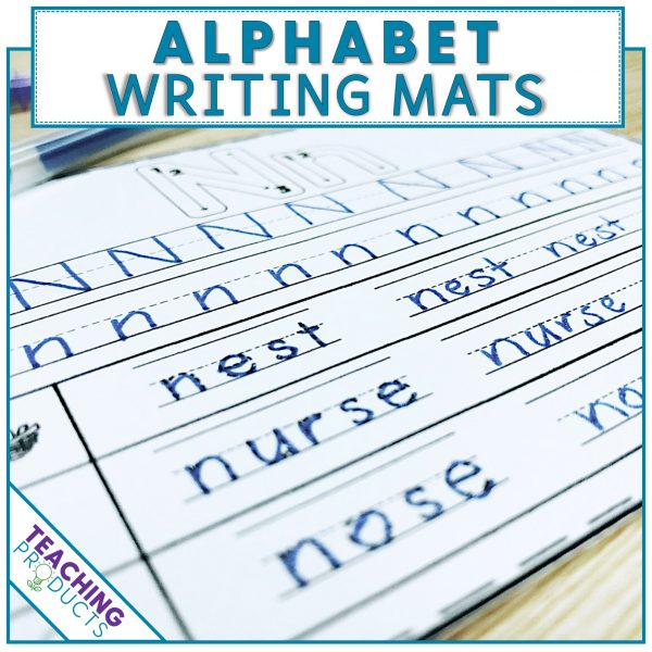 Alphabet writing mats for RTI support