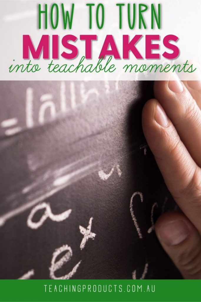 Have you ever made a mistake in front of your students? Learn how to turn your mistakes into teachable moments.
