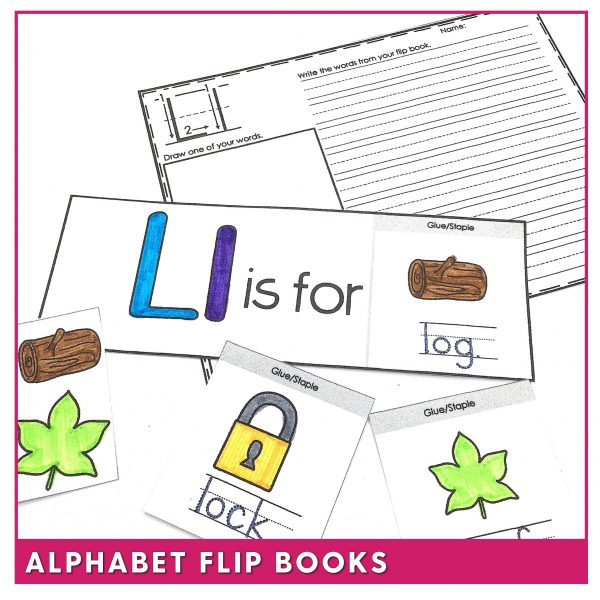 Phonics flip books to support letter recognition