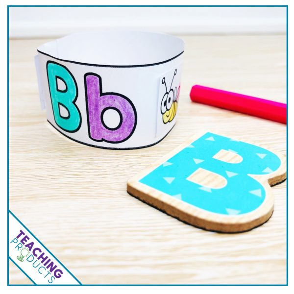 Alphabet wristbands for reinforcing letter recognition