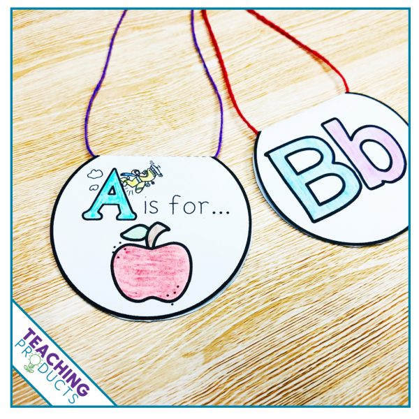 Alphabet medals to celebrate learning success. Give these to your students as they learn each letter of the alphabet.