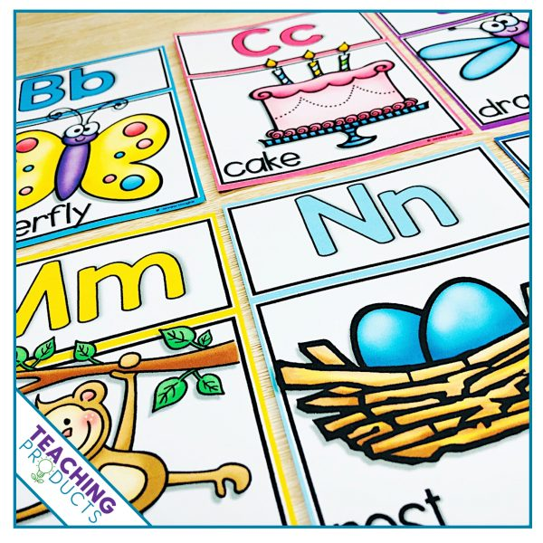 Classroom alphabet posters display for bulleting board