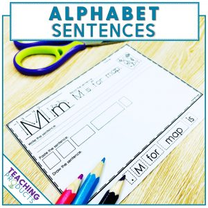 Alphabet sentences for letter recognition