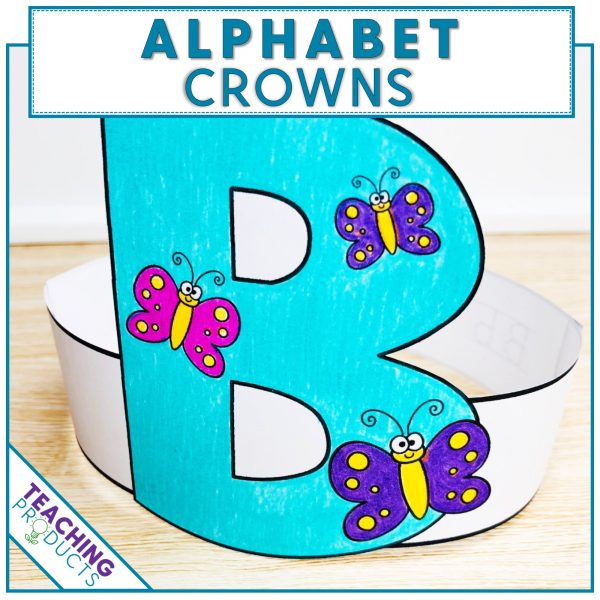 Alphabet Crowns for reinforcing letter recognition