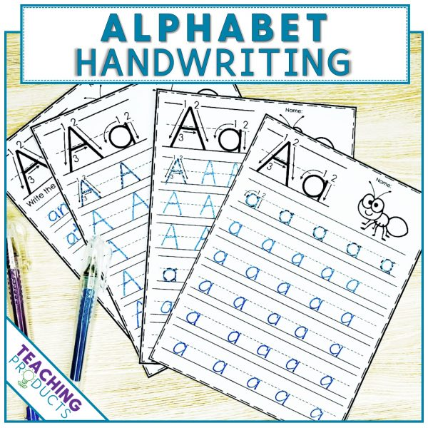 Alphabet handwriting no prep printable worksheets