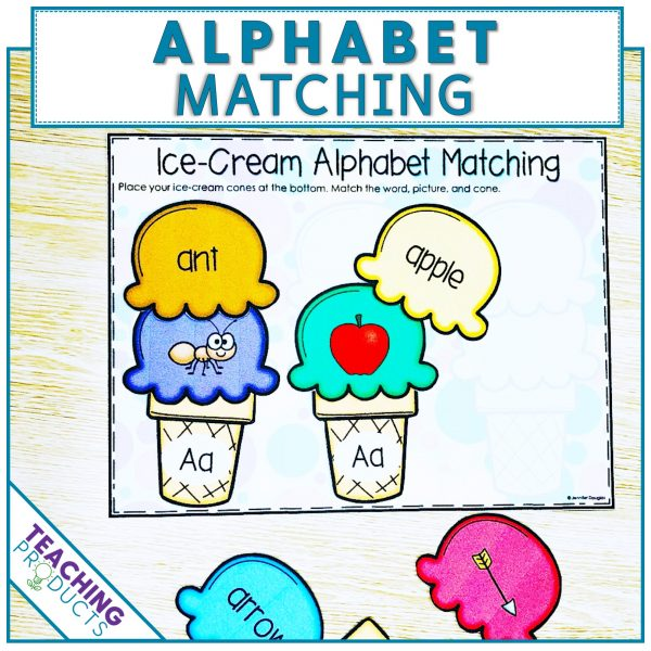 Alphabet matching activity to reinforce letter recognition and initial sounds