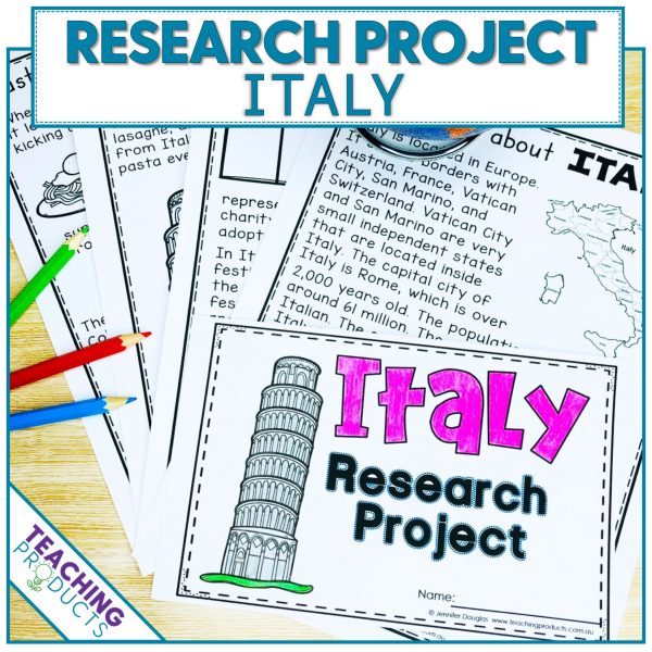 Social studies country research project Italy