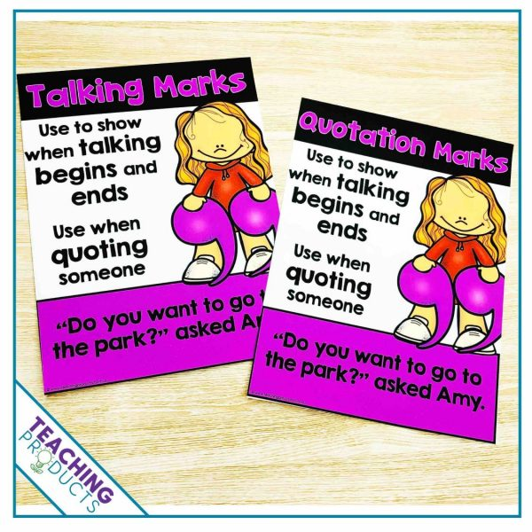 punctuation posters for classroom display